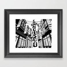 Cities in Black - San Francisco Framed Art Print