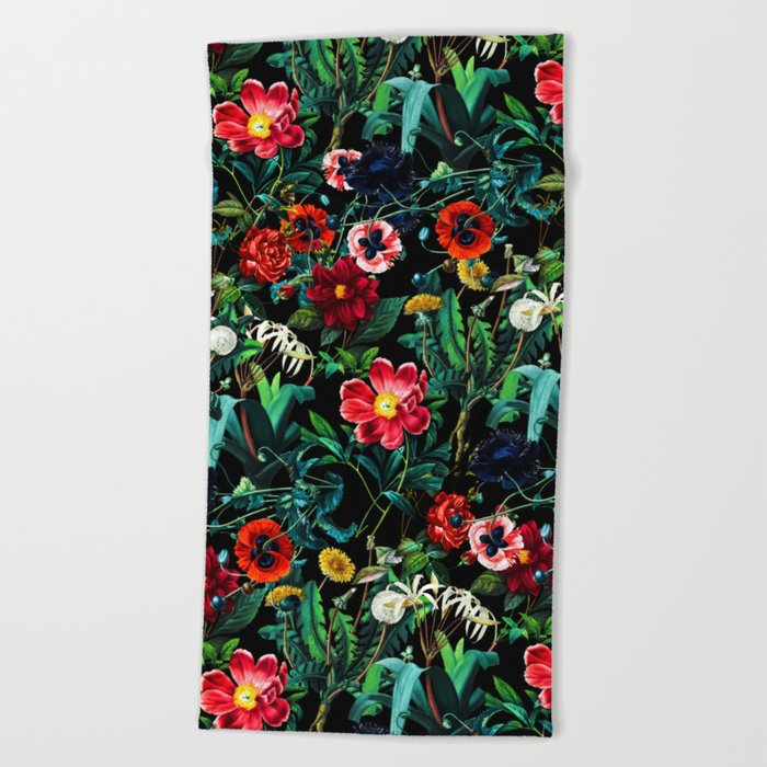 Night Forest VII Beach Towel