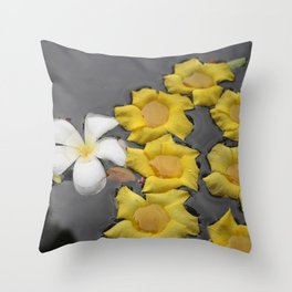 Flowers on water Throw Pillow