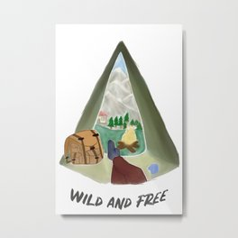 wild and free adventure art  Metal Print