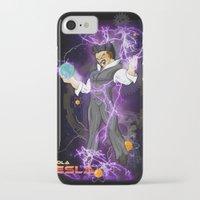 dbz iPhone & iPod Cases featuring DBZ Tesla by Hushy