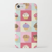cupcakes iPhone & iPod Cases featuring Cupcakes by Rosa Puchalt