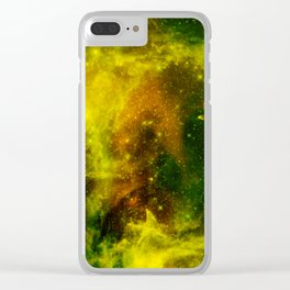 Yellow Galaxy - 5 Clear iPhone Case