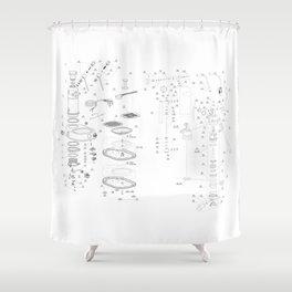 La Pavoni Professional Patent Drawing Shower Curtain