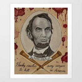 Abe Lincoln: Vampire Hunter Art Print