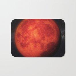 Super bloody moon Bath Mat