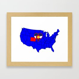 State of Colorado Framed Art Print