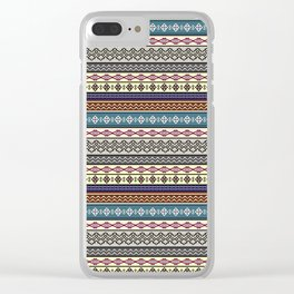 Modern Native Navajo Ethnic Tribal Pattern V.02 Clear iPhone Case