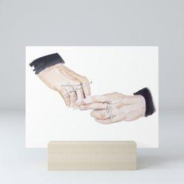 Rings on Fingers Mini Art Print