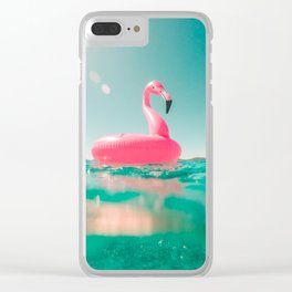 Pink swan Clear iPhone Case