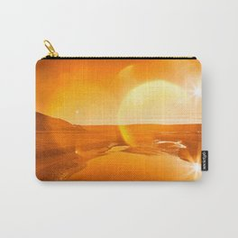 Twin Suns of Point Reyes - Gold Bokeh Bliss Carry-All Pouch