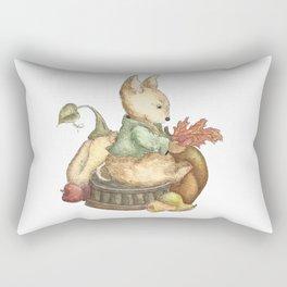 Vintage rabbit Rectangular Pillow