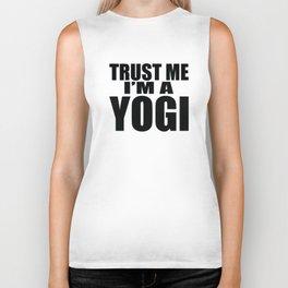 Trust Me I'm A Yogi Gift Biker Tank