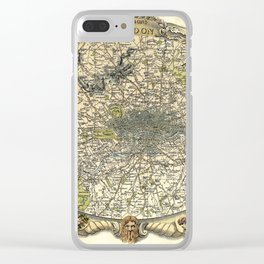 Map Of London 1837 Clear iPhone Case