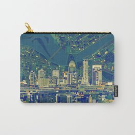 louisville city skyline green Carry-All Pouch