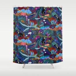 Whale Ocean Life Shower Curtain