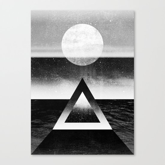 Exploring New Dimensions / BW Canvas Print