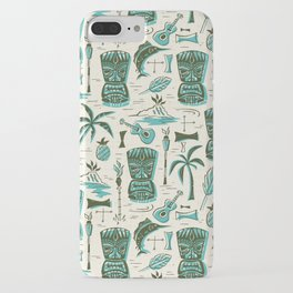 Tropical Tiki - Cream & Aqua iPhone Case