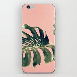 Monstera Blush iPhone Skin