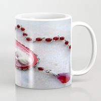 agate Mugs featuring agate,agate cameo,gemstone by ira gora
