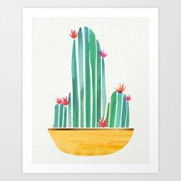 Tiny Cactus Blossoms Art Print