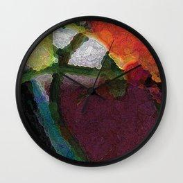 Nasturtium Bud Wall Clock