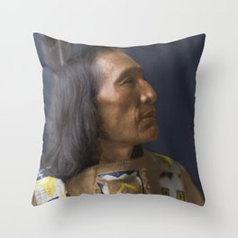 Little Dog - Brulé Lakota Sioux - American Indian Throw Pillow