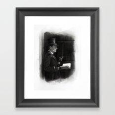 A Contemplative Pause Framed Art Print