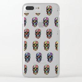 skulls pattern Clear iPhone Case