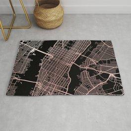 New York City Map - Rose Gold Rug