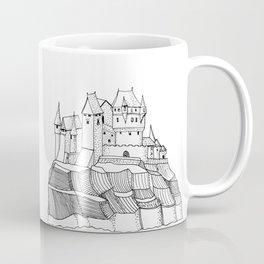 Castle on the Cliff . Illustration Coffee Mug