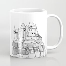 Castle on the Cliff . Illustration Coffee Mug