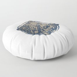 Blue Squircle Floor Pillow