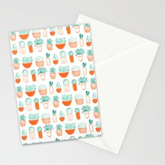 cacti pattern Stationery Cards
