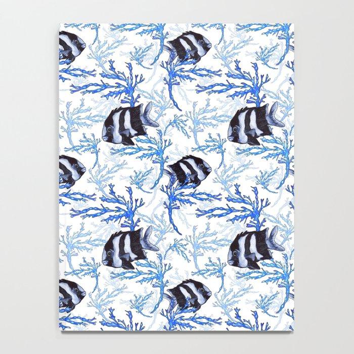Damselfish in Blue Coral Notebook