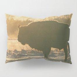 Bison Silhouette Pillow Sham