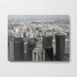 Shanghai View Metal Print