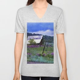 Purple Dames Rocket Ranch Saturated by CheyAnne Sexton Unisex V-Neck
