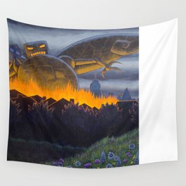 Evil Robot Wall Tapestry