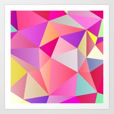 Pink Polygons Art Print
