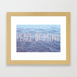 Peace of Mind Framed Art Print