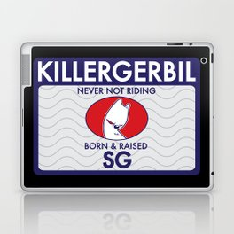 Killer Gerbil Tubing Blue Laptop & iPad Skin