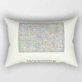 Wyoming map Rectangular Pillow