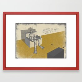 TV (with text) Framed Art Print