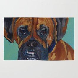 Boxer Dog Pet Portrait Rug