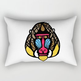 Mandrill Monkey Rectangular Pillow