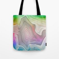 mineral Tote Bags featuring MINERAL RAINBOW by Catspaws