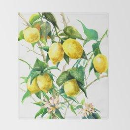 Lemon Tree Throw Blanket