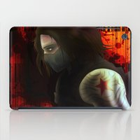 the winter soldier iPad Cases featuring The Winter Soldier by ParallelPenguins