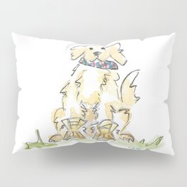 Preppy & Plaid Retriever Pillow Sham